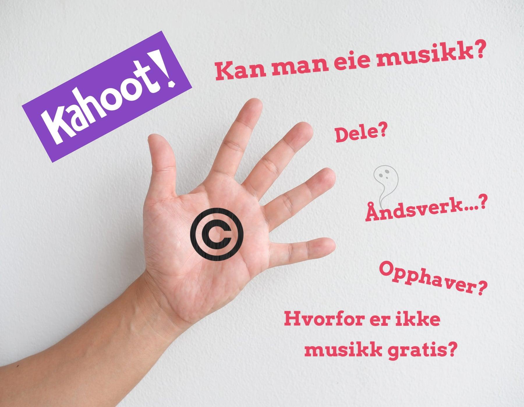 Hånd Med Copyright-symbol Og Kahoot-logo