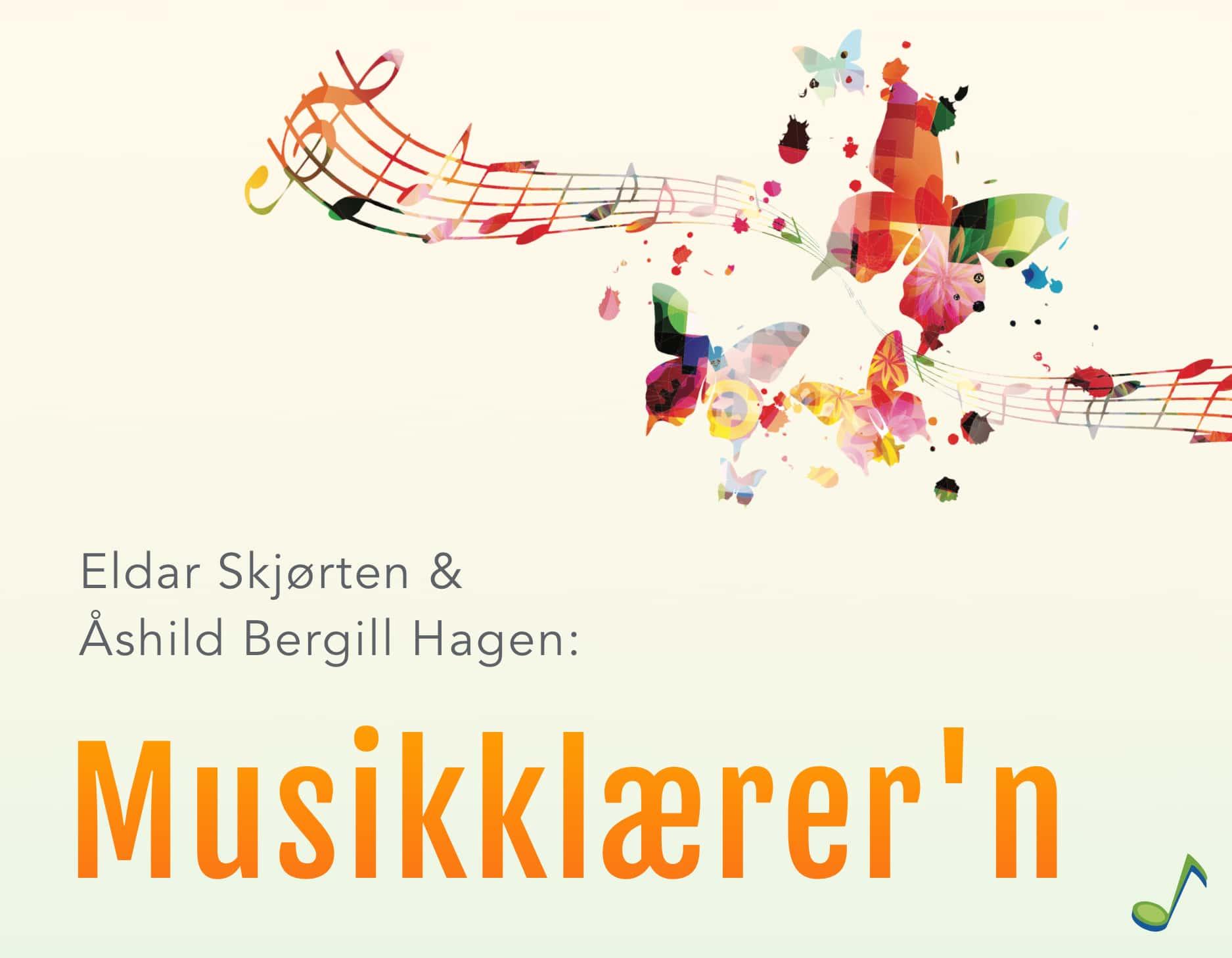 Musikklærer'n banner - noter, sommerfugler og farger - signaliserer kreativitet