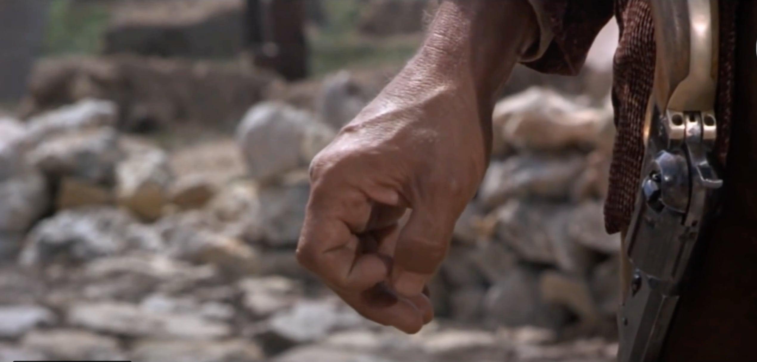 Fra Westernfilm - Hånd Og Pistolbelte