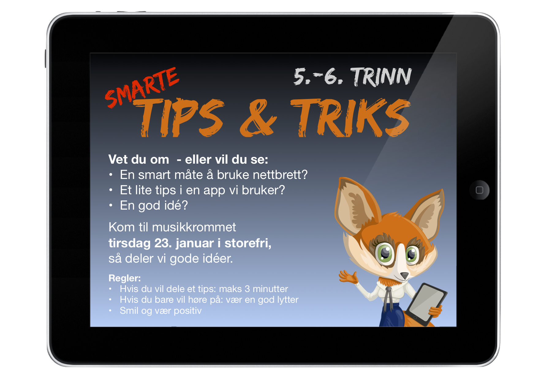 Plakat For Elevene Om Smarte Tips & Triks Med IPad