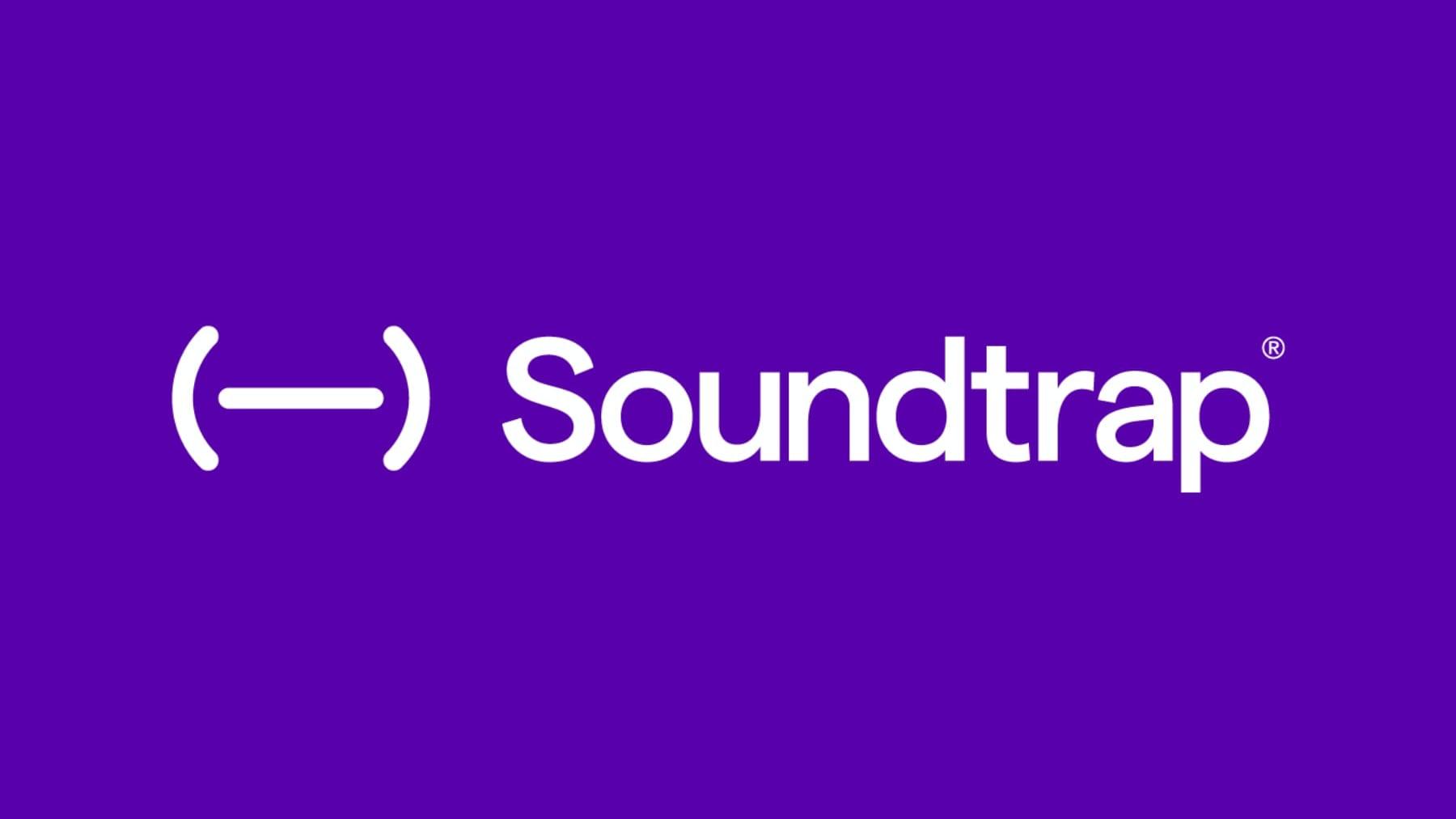 Soundtrap logo (tekst på lilla bakgrunn)